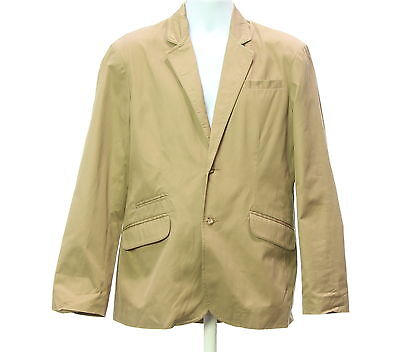 Men's BLACK BROWN 1826 Beige 100% Cotton Blazer Coat Size M