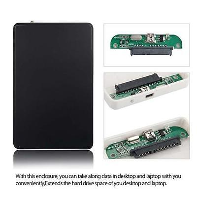 USB 2.0 Durable HDD Enclosure Hard Drive External Case Box for 2.5 Inch SATA  TB