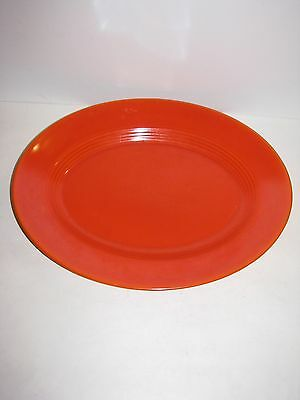 Homer Laughlin, Harlequin, Vintage, Oval Serving Platter, Red, Very Nice