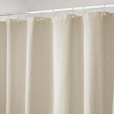 MDesign Hotel Style Cotton Polyester Blend Fabric Shower Curtain 108 X 72
