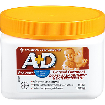 A+D Original Ointment Jar, Diaper Change, Relieve Dry, Chafed Skin, 1 Pound