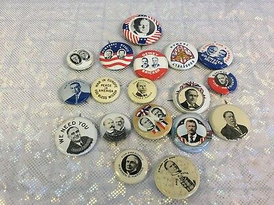 18 Vintage 1970's Political Pin Back Buttons Presidential Senate +Many MORE!