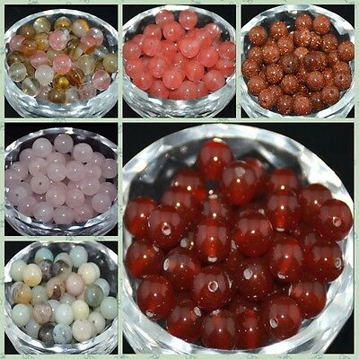 Smooth Wholesale Natural Gemstone Round Spacer Loose Beads 4MM 6MM 8MM 10MM Lot