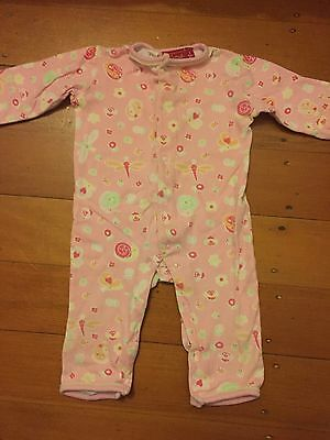 As New, Girls Pink One Piece Jumpsuit, Size 0, Sprout, Cotton.