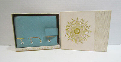 LADY BUXTON 1960's PETITE FLEUR LIGHT BLUE CONVERTIBLE WALLET UNUSED W/ BOX NICE