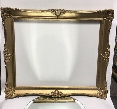 VTG Aesthetic Eastlake Victorian Style Ornate Wood Picture Frame 18x22 Lot#2