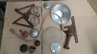 Lot of Model A Ford and vintage auto parts  some NOS ratrod, rumble seat, light