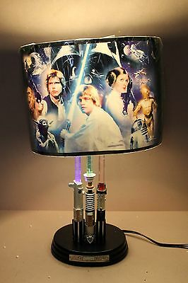 "Bradford Exchange Star Wars Table Lamp "" Lightsaber Legacy ""  A9832"