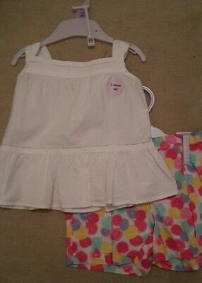summer top and shorts set outfit 9-12 months bnwt