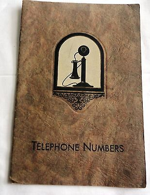 """1900""""s New York Telephone Company (Bell Systems) Phone Number"""