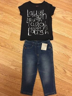 Next Baby Girls T-shirt & New With Tags Jeggings 9-12 Months