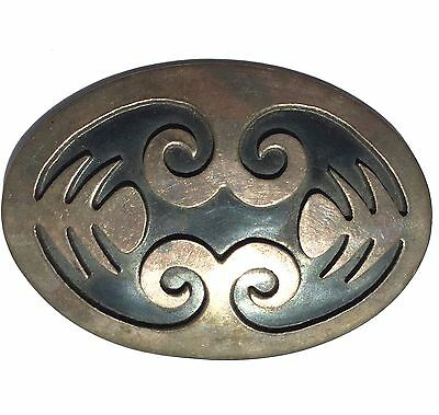 Vintage Sterling Silver Native Mexican Wings Brooch Pin