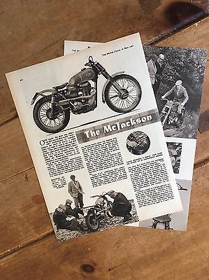 The Mcjackson Ajs 1961 Original Motorcycle Field Test Article