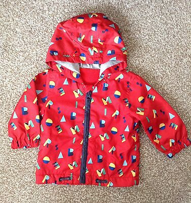 Baby Boy Red Coat * 6-9 Months * Alphabet * Great Used Condition *
