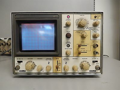 Vintage Hitachi Denshi 2 Channel 120V Oscilloscope Tested / Works