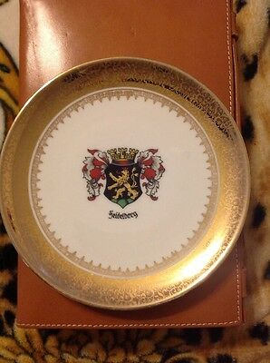 Hutschenreuther Selb Bavaria China Gold Encrusted Emblem Plated A5