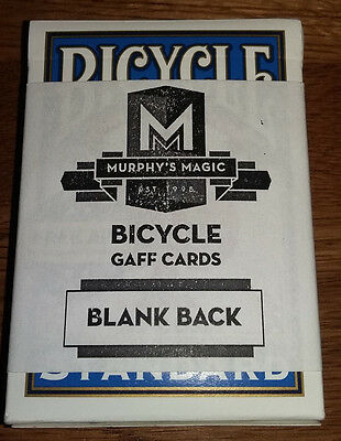 Blank Back Bicycle Single Gaff Card - Great for Magic Tricks!