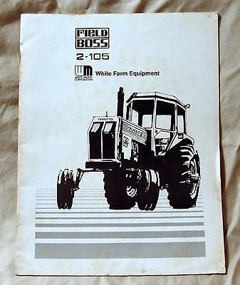 Vintage White Farm Equipment Model 2-105 Tractor Features Brochure -Ca 1970's!