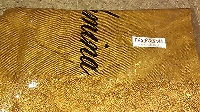 Golden Brown Classic Soft 100% Pashmina Cashmere Wool Shawl Wrap Scarf Solid