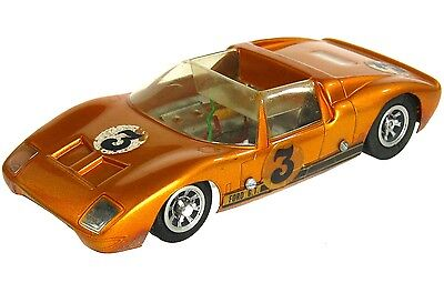 Vintage 1960's Revell Ford GT-40 1/24 Slot Car w/Asymmetrical Chassis Halibrand
