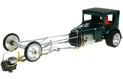 Vintage 1/24 Ford Pickup Dragster Hot Rod Slot Car w/Brass Chassis Cox Driver