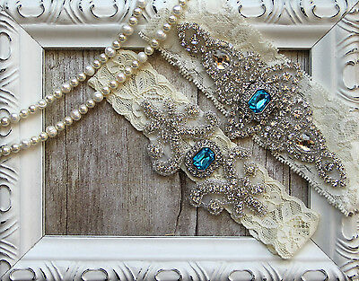Garter w/ Toss Garter Set ~ Wedding Garter Set, Bridal Garter Set, Vintage, Lace