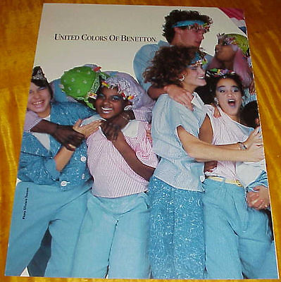 1985 United Colors Of Benetton by Toscani 6 Page Ads Girls Boys 80s Fashions