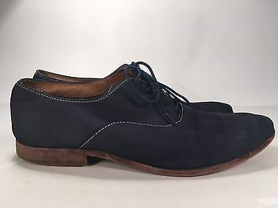 Aldo Navy Blue Leather Loafers Men's Sz 10.5 Lace Up