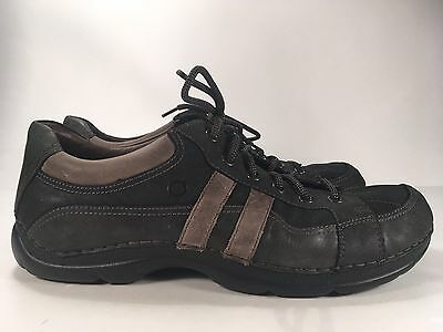 Børn Black/Gray Leather Casual Loafers Men's Sz 13/47.5M Lace Up