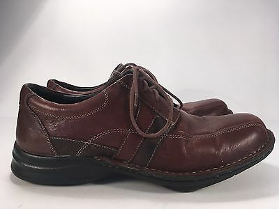 Clarks Wave Brown Leather Loafers Men's Sz 10M Lace Up