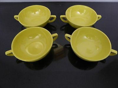 Mid Century Modern Stangl 2000 Two Handle Soup Bowls - Yellow (4)