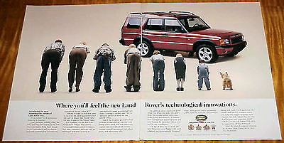1997 Land Rover 1 Page Car Ad Feel the New Technological Innovations #061317
