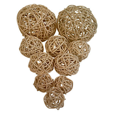 Decorative Balls Stylish Home Staging Decor Orb Round Pack Of 10 Modern Natural
