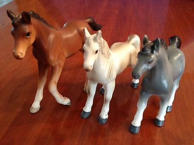 Toy Horse - Vintage - Figurines-Glass Horse Collection - THREE - 60's