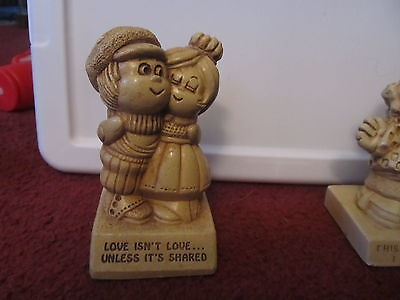 Paula Figurine Statue Love Isn't Love Unless It's Shared