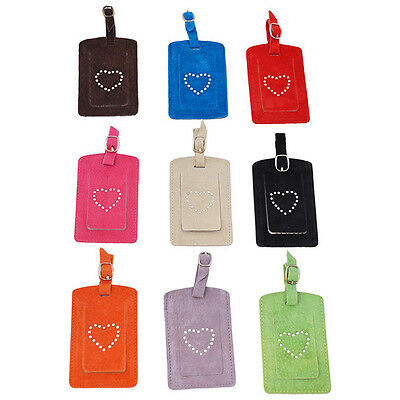 Brand New Suede Luggage Labels/Bag Tags / Luggage Tags - Travel Accessories