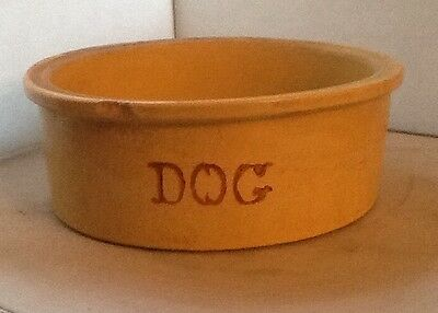 LARGE R.R.P Dog Bowl Dish Feeder Robinson RANSBOTTOM Pottery Roseville