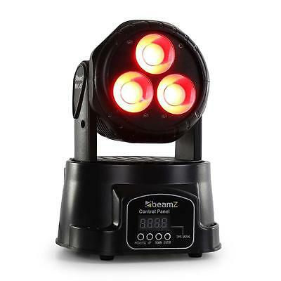 Mini Moving Head Licht Effekt Beamz Mhl-45 Wash 8 Kanal Dmx 3X 15W Cob Led Party