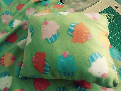 Quillow - Cupcake Quillow for kids 2t -5t Quilt and Pillow