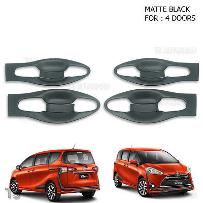 To Toyota Sienta Xp170 17 - 18 Door Handle Bowl Insert Cover Matte Black Trim V2