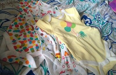 3-6 months NEXT baby girl short sleeved vests/body suits Yellow New With Tags