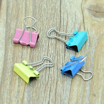 60x Colorful Metal Paper File Ticket Binder Clips 15mm Office School Supply