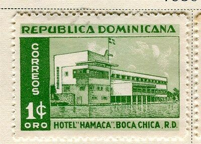 DOMINICA;  1950 early Hotel issue fine Mint hinged 1c. value