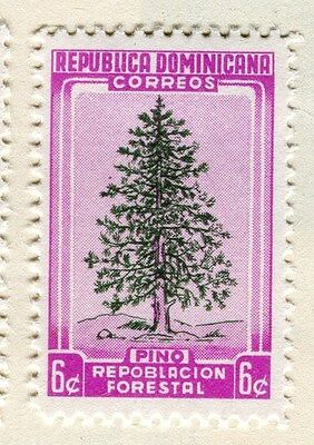 DOMINICA;  1956 early Forestry Congress Mint hinged 6c. value