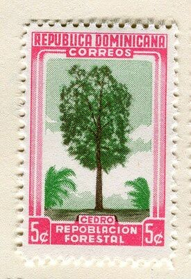 DOMINICA;  1956 early Forestry Congress Mint hinged 5c. value