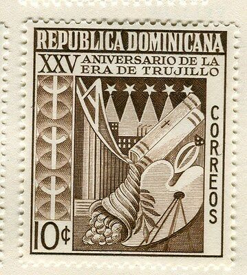 DOMINICA;  1955 early Trujillo issue Mint hinged 10c. value
