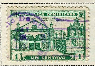 DOMINICA;   1931 early Catherdral issue fine used 1c. value