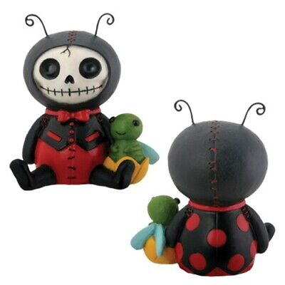 FurryBones Dots Figurine Ladybird Bug Cute Cool Skeleton Gothic Ornament Gift