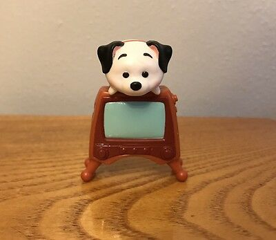 Disney Tsum Tsum Vinyl Figure 101 Dalmatians Lucky w/ TV Accessory Mint OOP