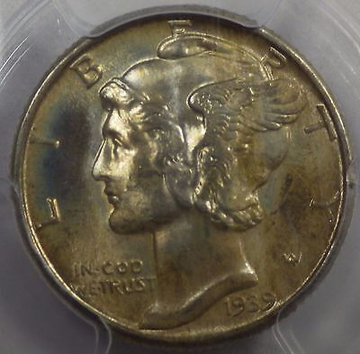 1939 Mercury Dime PCGS MS66